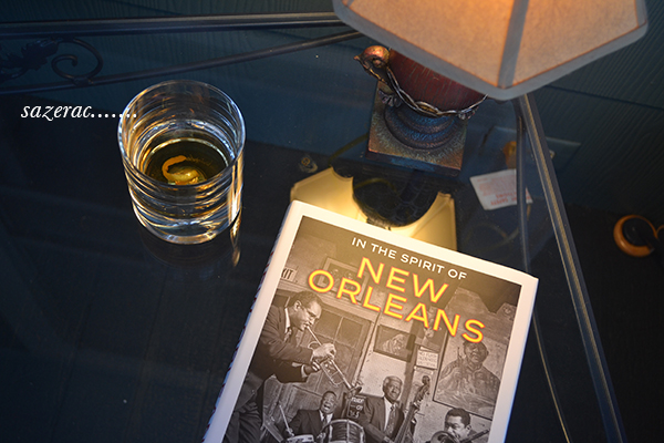 picture of the book and a sazerac