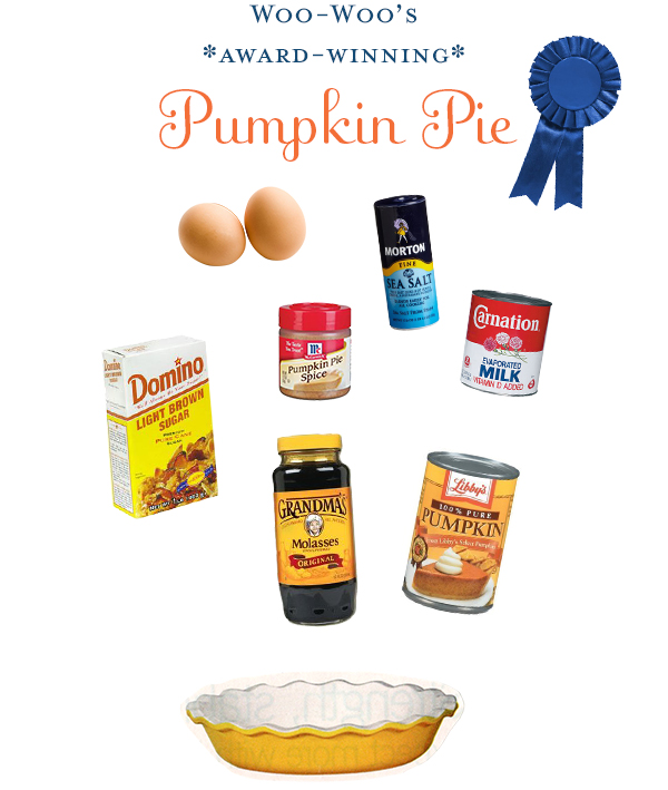 Woo-Woo's Award-Winning Pumpkin Pie Recipe