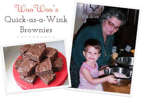 WooWoo's Quick-as-a-Wink Brownies | Secrets of a Belle