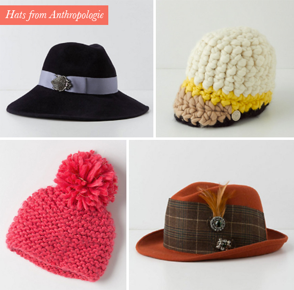 hats from Anthropologie
