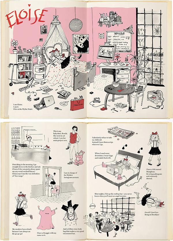 Eloise reimagined by writer-illustrator Joanna Avillez for New York Magazine