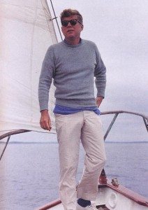 President Kennedy casual sailing style