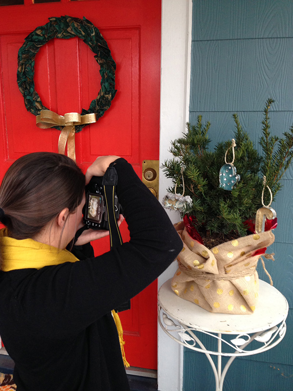 Behind the Scenes with HGTV HOME's 12 Days of HGTV HOME Fabric Contest | Hannah & Husband