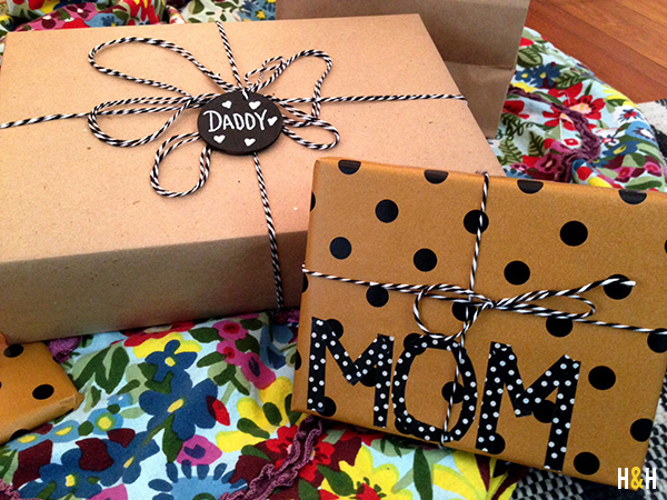 6 Gift Wrap Ideas | Hannah & Husband