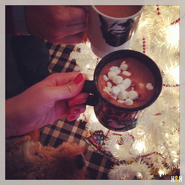 Homemade hot chocolate and a decorated tree. What else do you need?