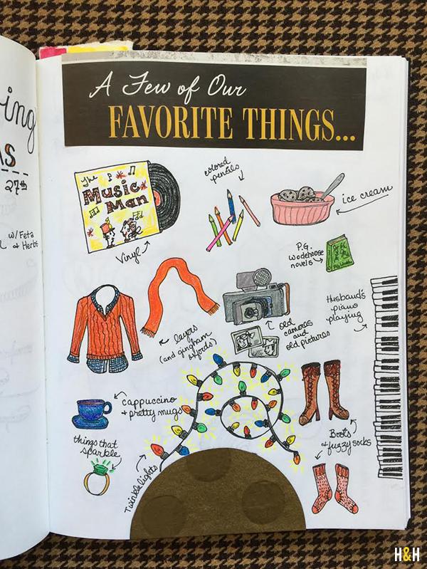 Favorite Things. #sketchbook #doodle | Hannah & Husband