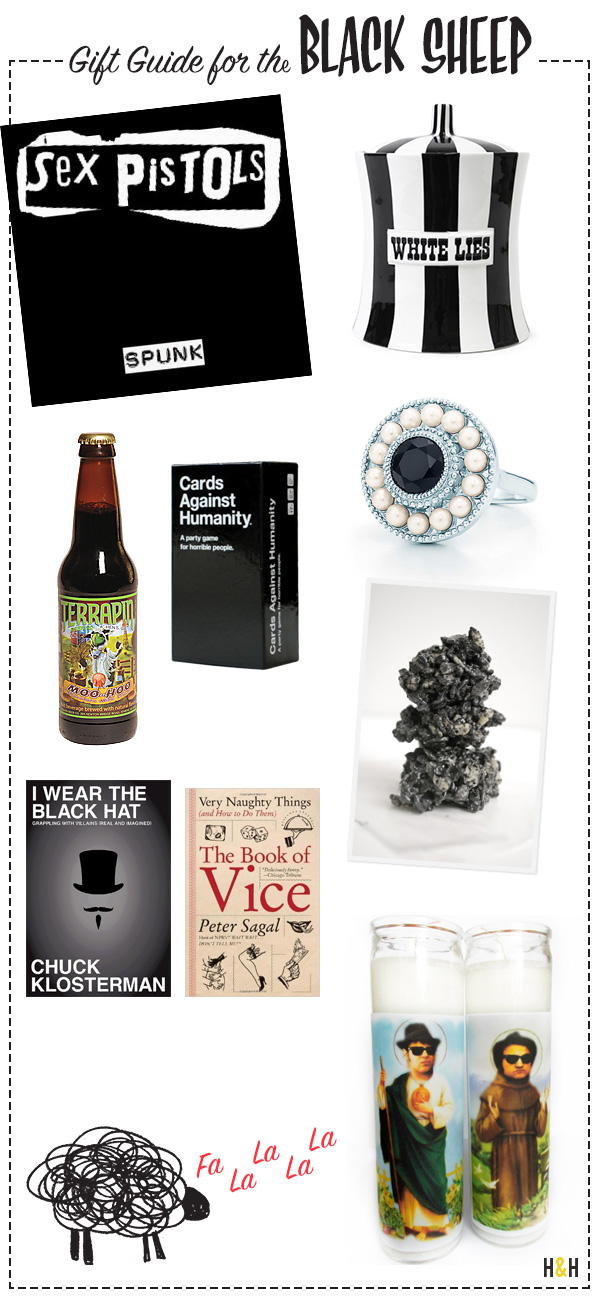 Gift Guide for the Black Sheep   Hannah & Husband