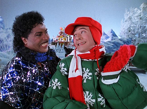 Little Richard and Pee-Wee Herman in Pee-Wee's Playhouse Christmas Special
