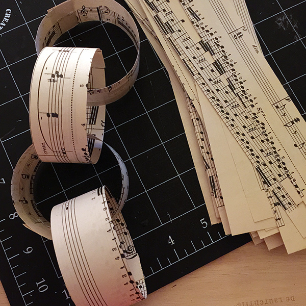Sheet Music Garland | Hannah & Husband
