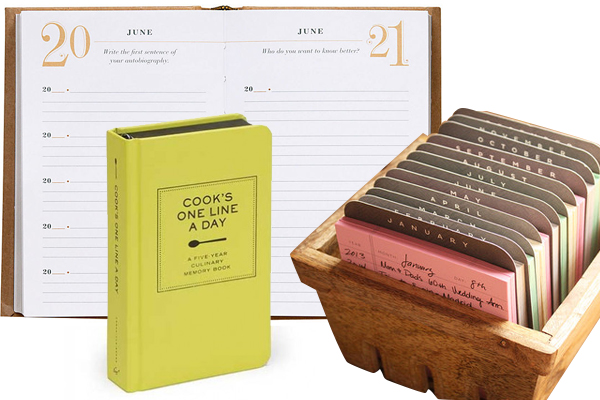 Daily calendars from Paper Source, Chronicle Books, and 1canoe2