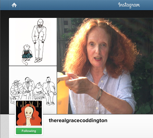 Grace Coddington on Instagram | TGIF! Hannah & Husband