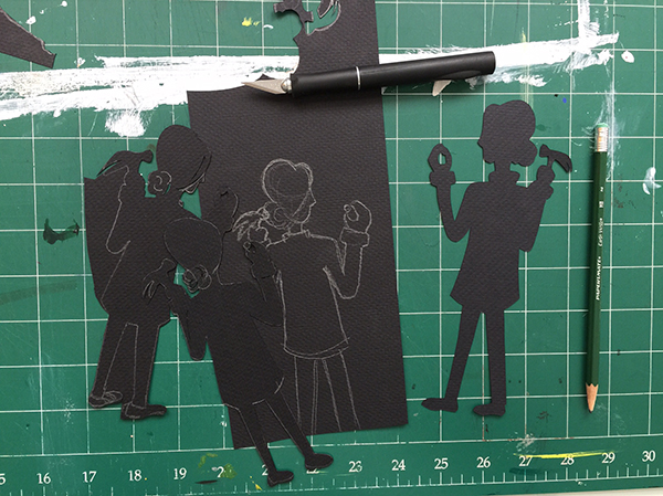 Evolution of a silhouette for an upcoming shoot with HGTV. | Hannah & Husband