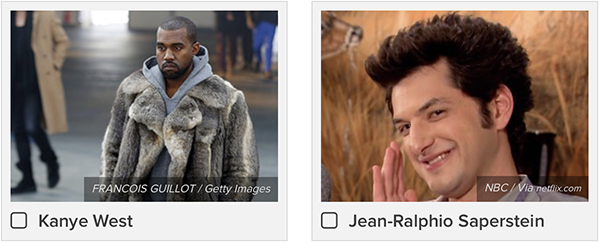 Kanye West or Jean-Ralphio Saperstein