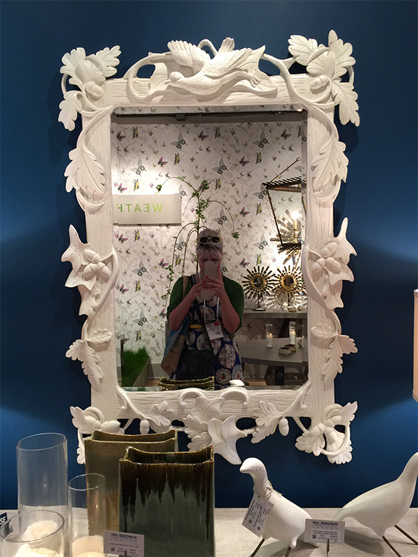 Hannah B. at High Point Market in the Mr. Brown showroom | Hannah & Husband