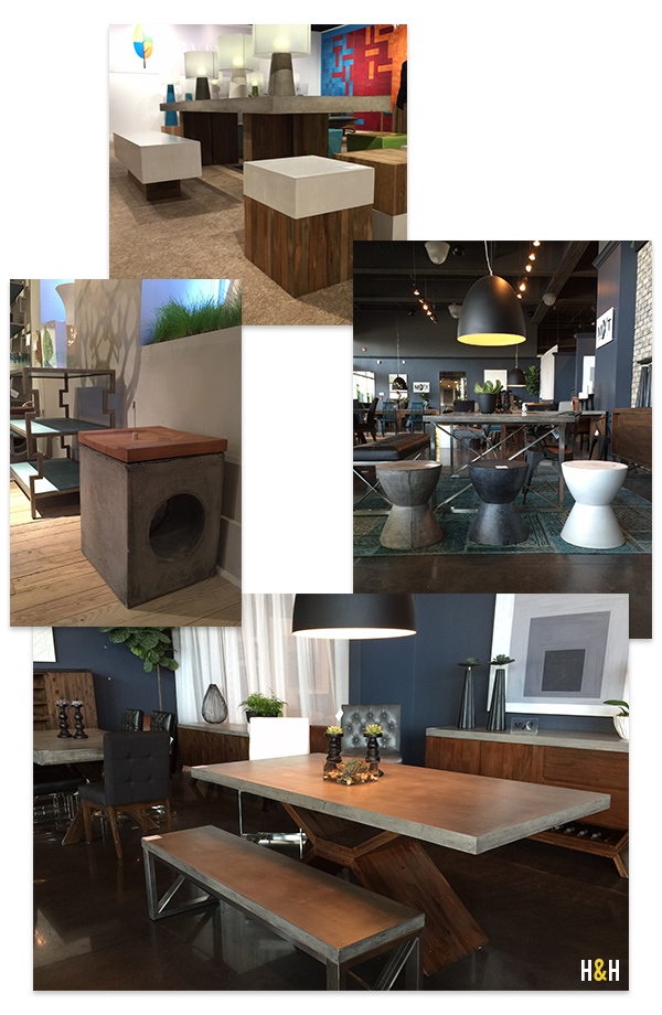 Concrete + Wood at High Point Market, Spring 2015 | Hannah & Husband