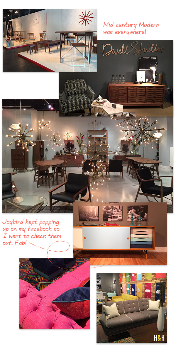 Mid-Century Modern at High Point Market, Spring 2015 | Hannah & Husband