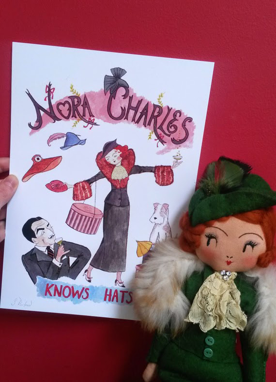 *Lovely* Nora Charles goodies made by Curious Pip.