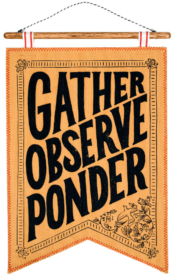 Gather, Observe,  Ponder banner from the American Museum of Natural History's  partnership with Etsy