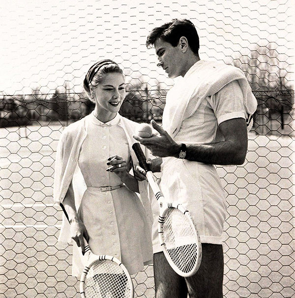 1954 couple in Vogue, Wimbledon Whites | Hannah & Husband