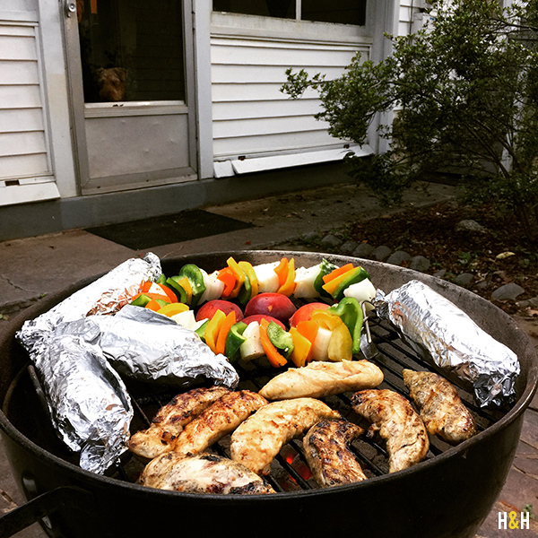 The Fire Wire on the grill in action. | Hannah & Husband