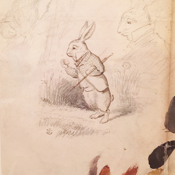 Sketch of the White Rabbit from the Morgan Library's Alice in Wonderland Exhibition | Lewis Carroll's Photography Extraordinary on Hannah & Husband