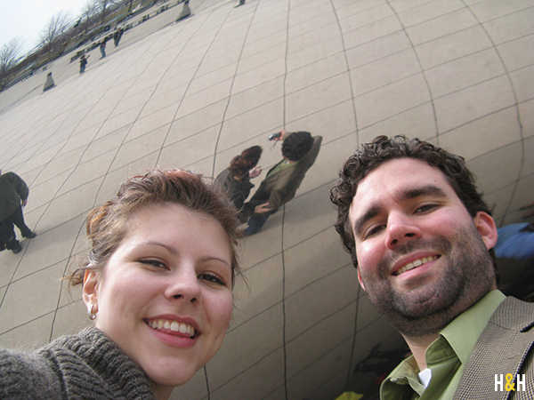 selfie at Cloud Gate, Our Favorite Places in Chicago | Hannah & Husband