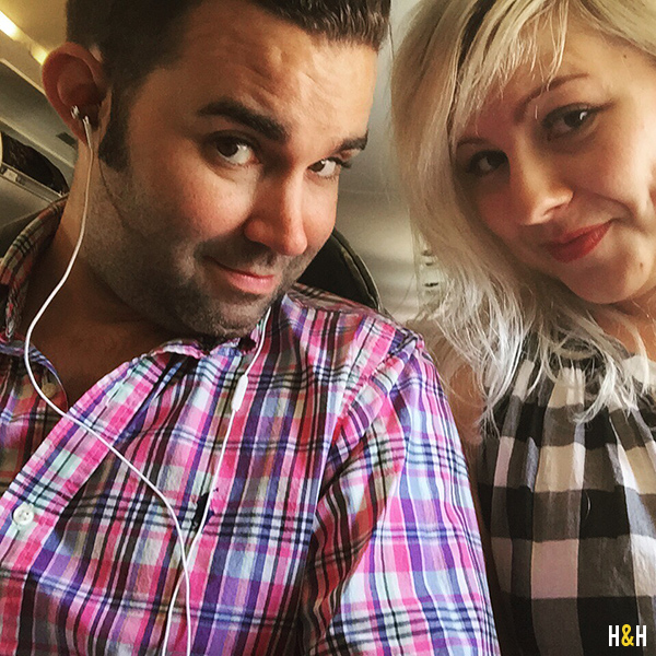 in-flight selfie | Hannah & Husband