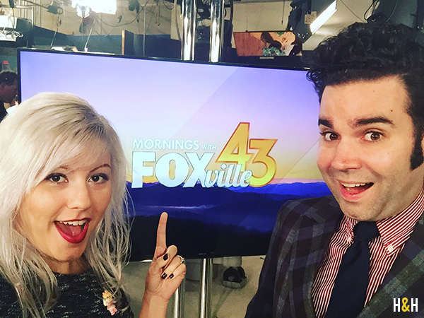 Pop Culture with Abby Ham on Mornings with Fox 43 | Hannah & Husband
