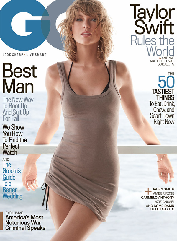 Taylor Swift on the cover of November 2015's GQ. Story by Chuck Klosterman.