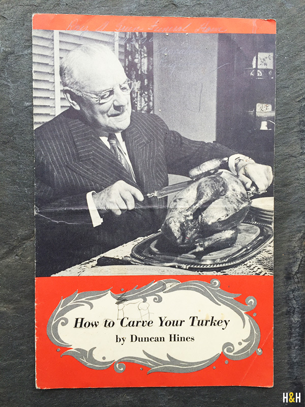 How to Carve a Turkey by Duncan Hines, 1953 | Hannah & Husband