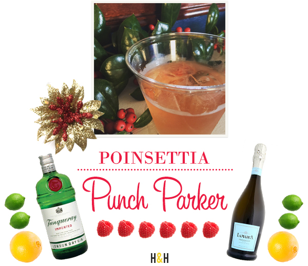 Get the recipe for a Poinsettia Punch Parker from our Cocktails & Carols 2015 party! | Hannah & Husband
